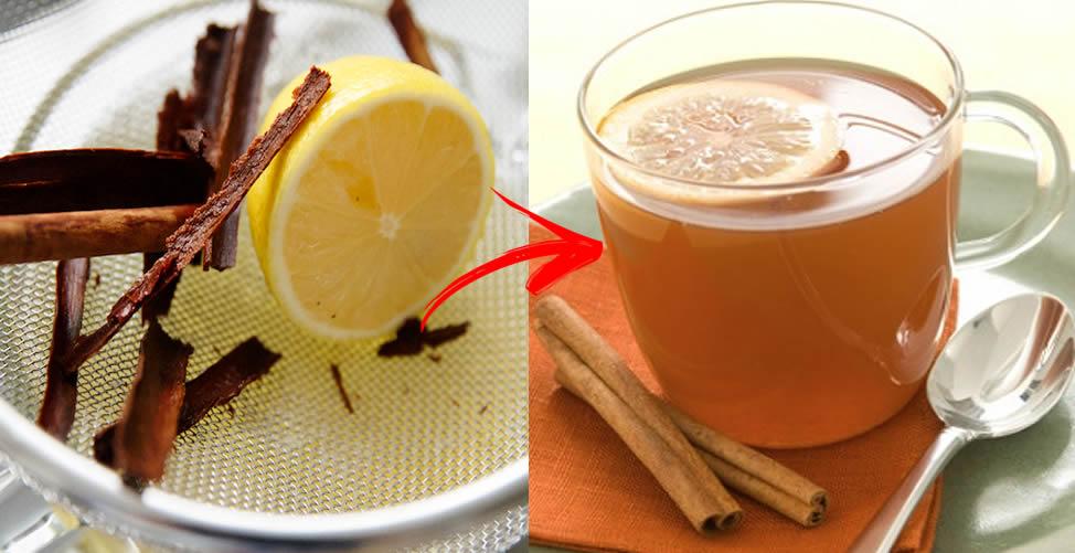 chá de limão e canela para emagrecer