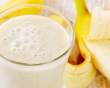receita de shake de banana para emagrecer