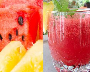 para que serve suco de melancia com abacaxi