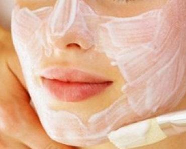 Máscara caseira com efeito lifting