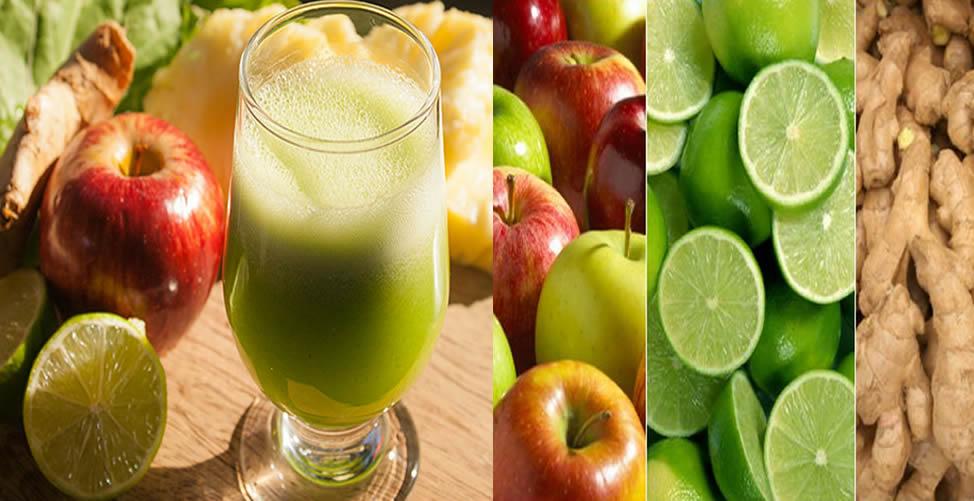 benefícios do suco de maçã com limão