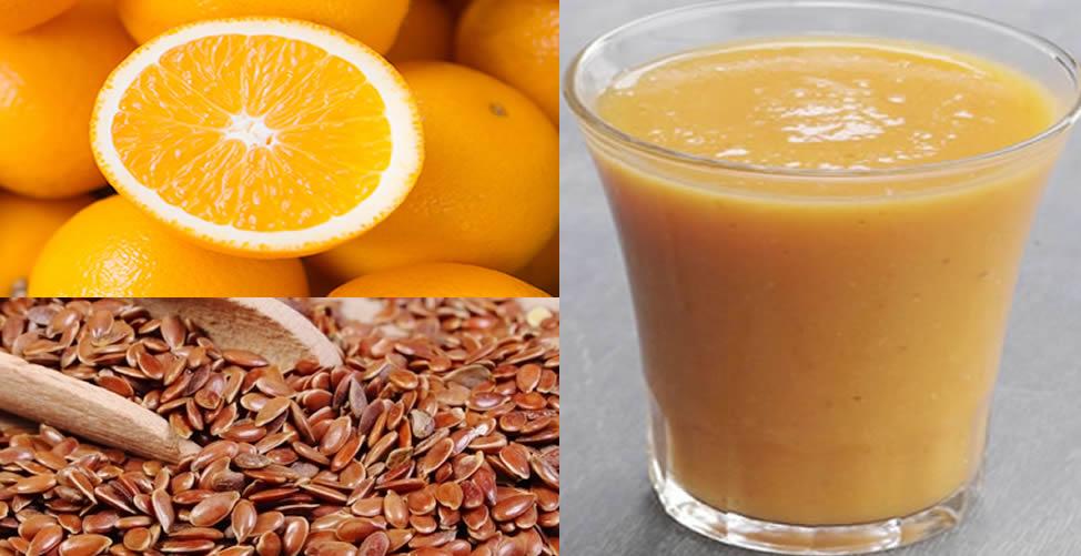 benefícios do suco de laranja com linhaça