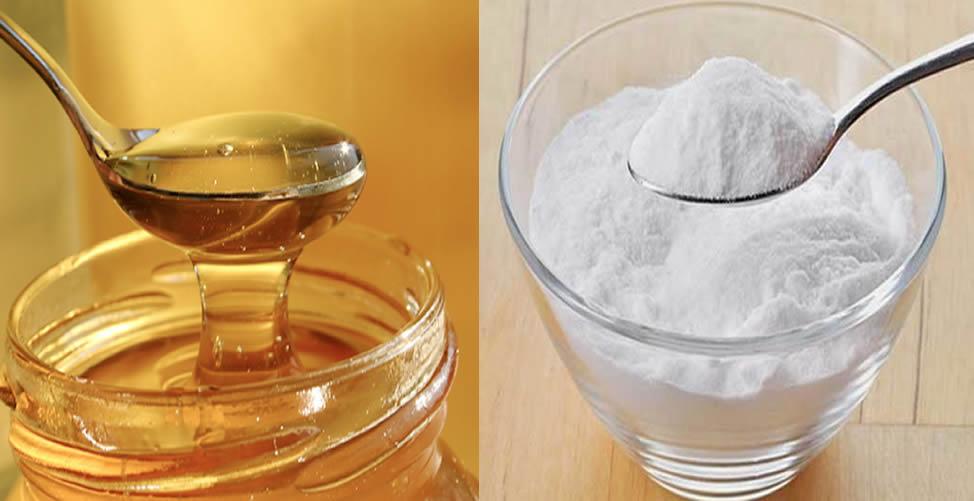 mel com bicarbonato de sódio