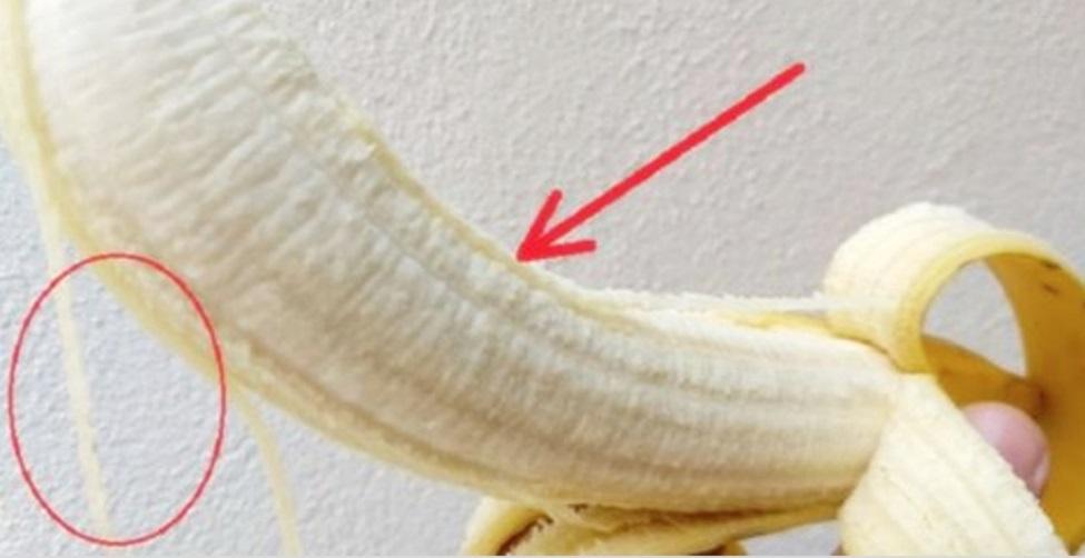 função dos fios brancos da banana