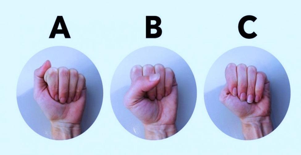 forma do seu punho