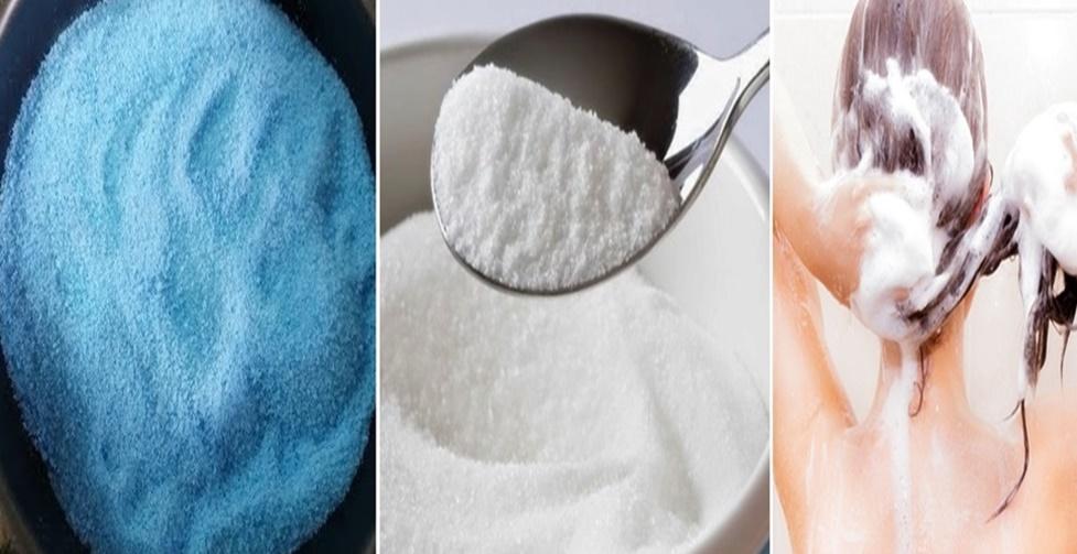 sabão em pó e açúcar para lavar os cabelos