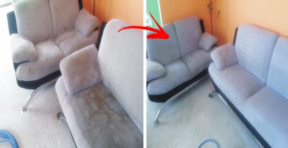 sofá sujo e com cheiro