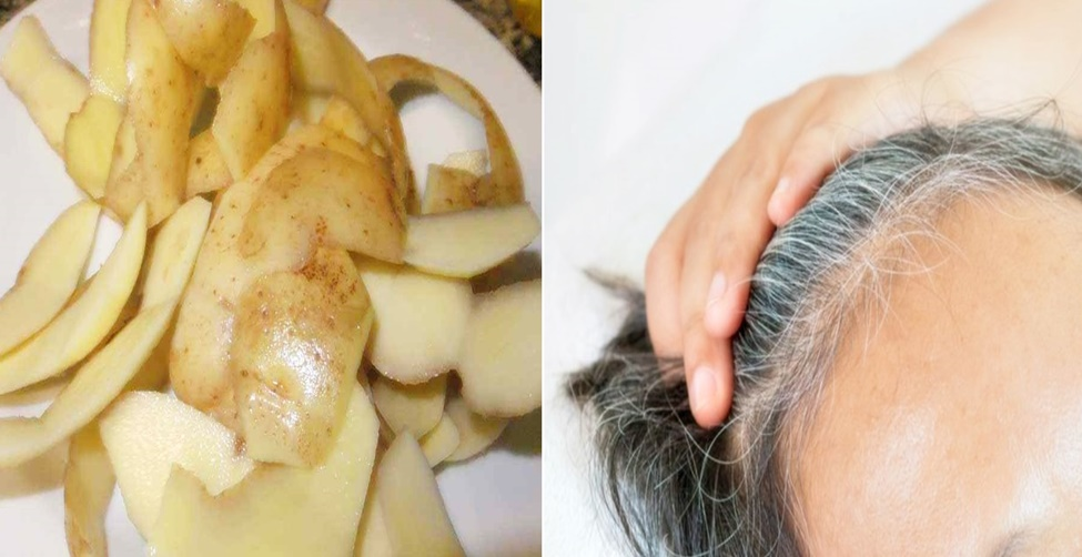 pintar o cabelo naturalmente com cascas de batata