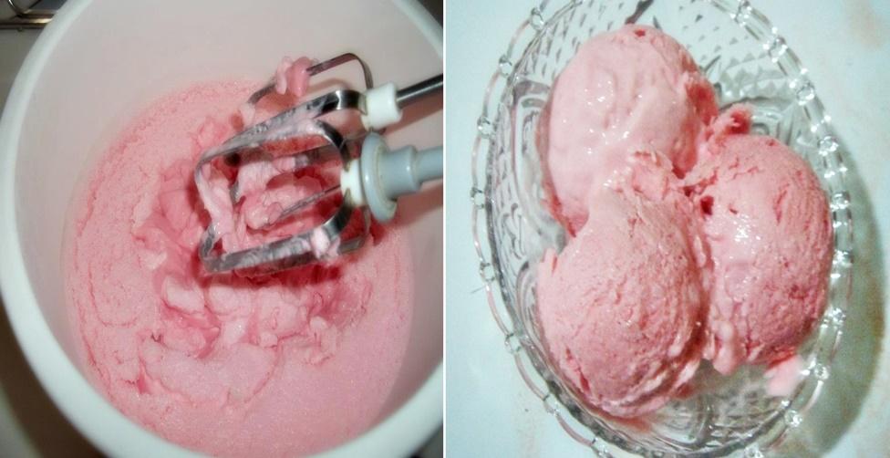 sorvete de gelatina caseiro