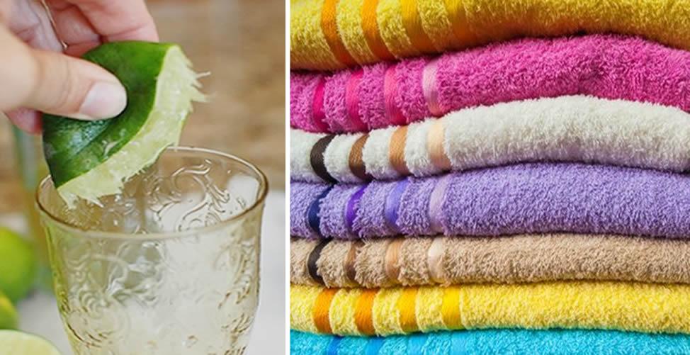 acabar com odor das toalhas