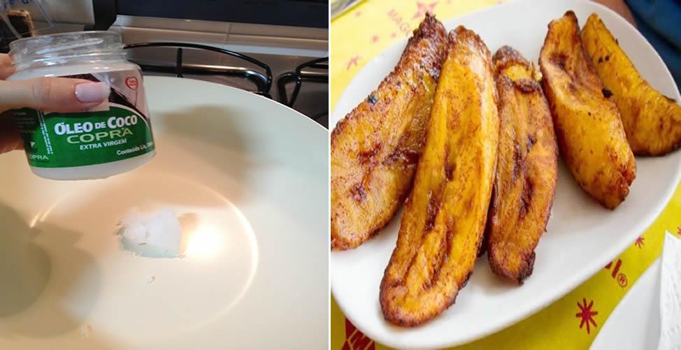 Como Fazer Banana Frita Com Pouca Gordura