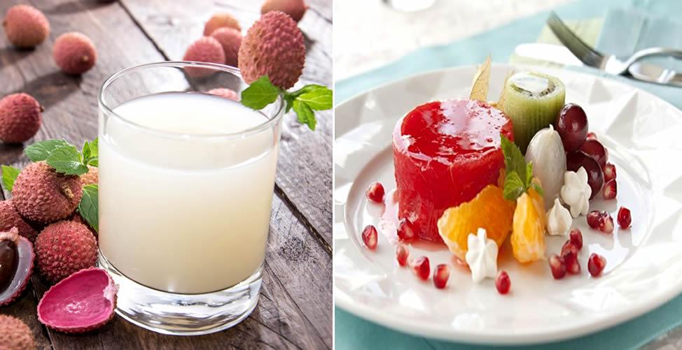 Consumo da Lichia em Suco e Salada de Frutas