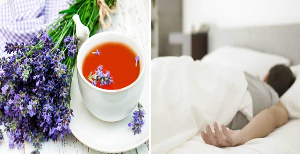 Benefícios do chá de Alfazema - favorece o sono