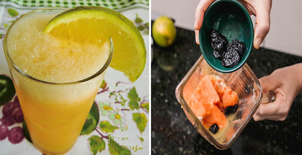 Remédio Caseiro Para Intestino Preguiçoso - laranja, mamão e Ameixa