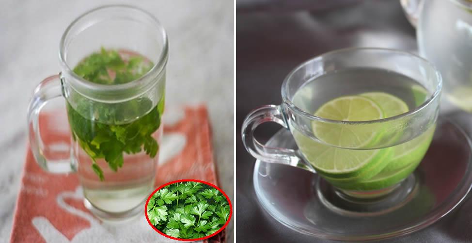 Remédio Caseiro para Inchaço nas Pernas - Chá de Salsinha e Água com Limão