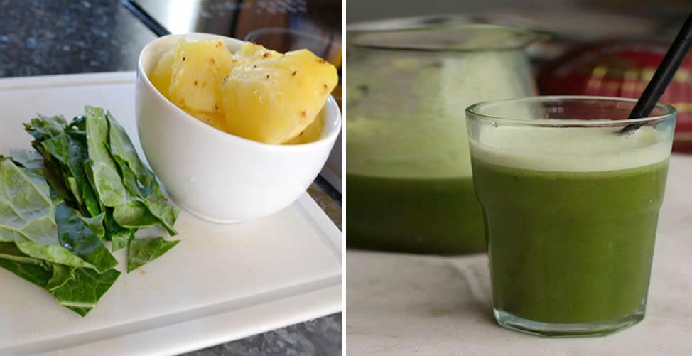 Tratamento Caseiro Para Eliminar Toxinas do Corpo Couve com Abacaxi