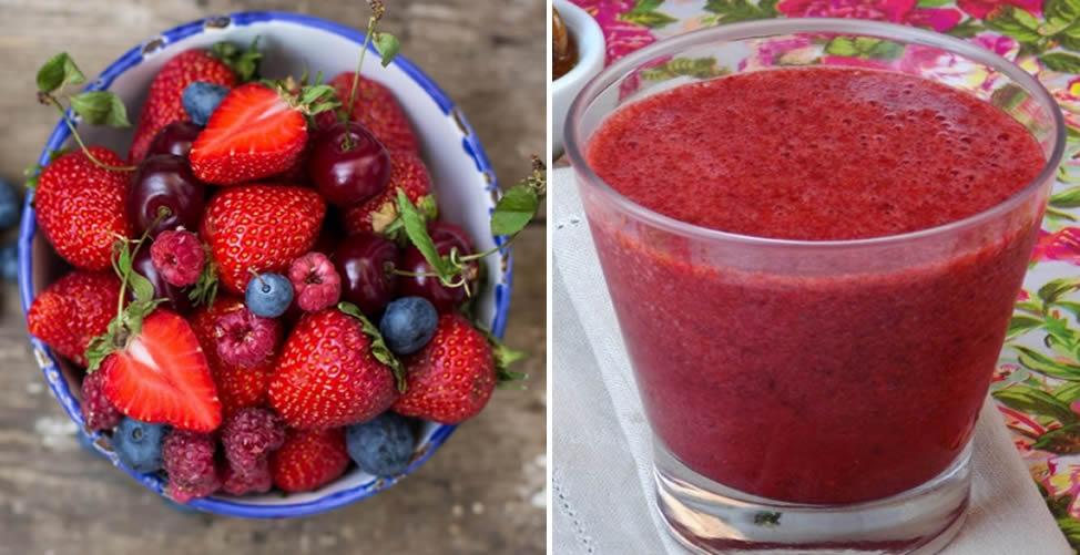 Tratamento Caseiro Para Eliminar Toxinas do Corpo Frutas vermelhas