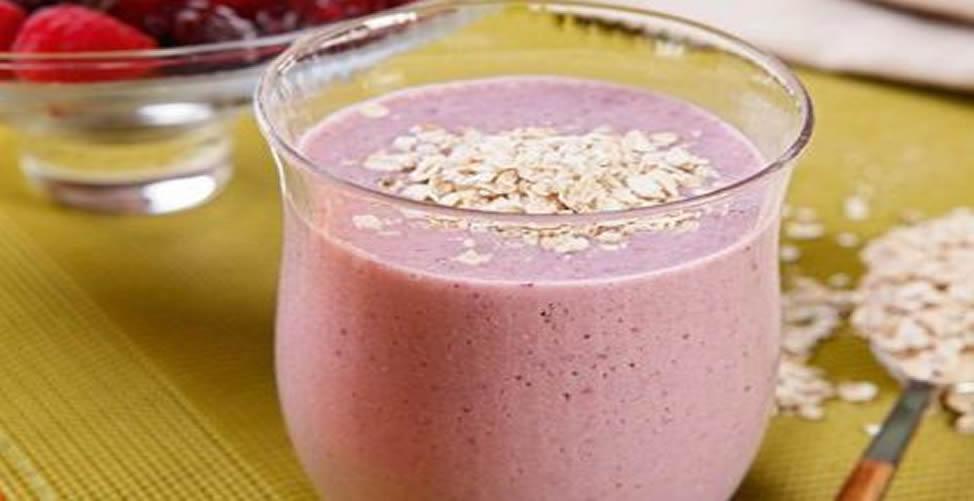 Vitamina Para Perder Peso Com Aveia e Morango