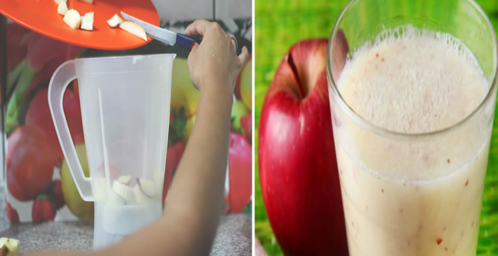 Vitamina de Fruta Para Limpar o Corpo Maça