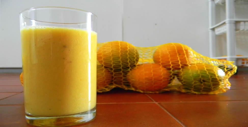 Vitamina para refrescar sem sair da dieta