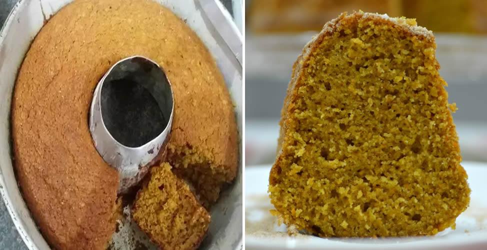 como fazer bolo de cenoura integral