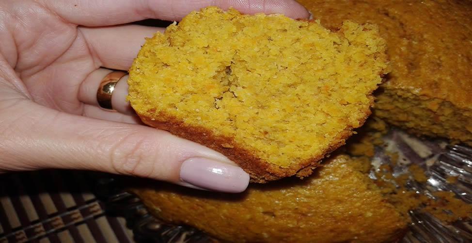 receita de bolo de cenoura integral