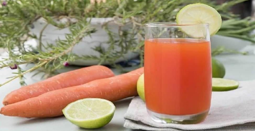 Sucos Para o Cabelo Crescer- Cenoura e limão